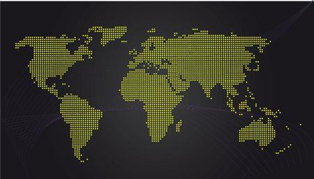 Eenvoudige kaart van de wereld Stockfoto