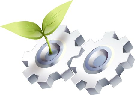 Ecologie Gear Stockfoto