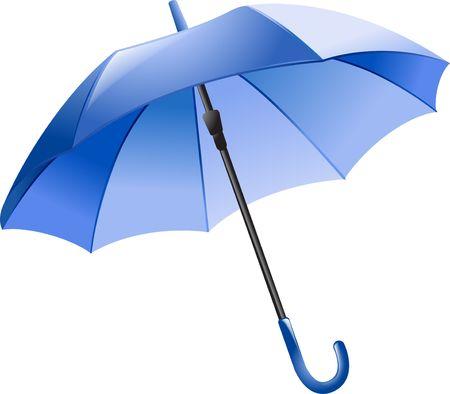 Blauw paraplu Stockfoto