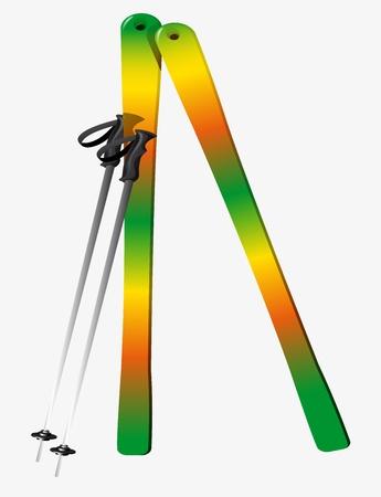 Ski Stockfoto