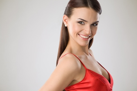 Portrait of a smiling woman photo