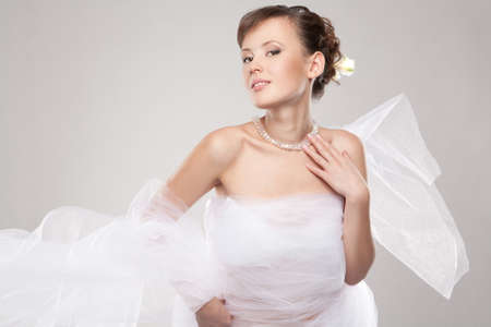 Beautiful woman wrapped in fabric Stock Photo - 12782886