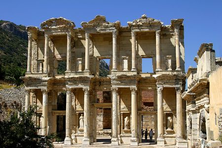 The antique Celsiuss library in Efes, Turkey