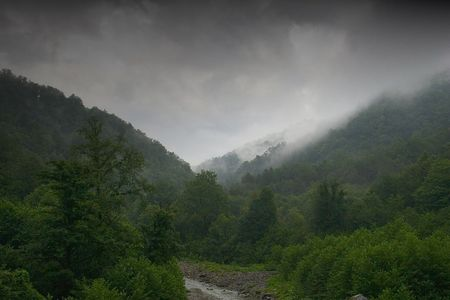 exhalation: The valley of river Ashe after storm, Kavkaz