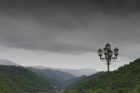 uneasiness: El valle en las monta�as Kavkaz, Rusia