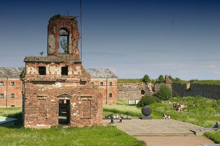 The ruins of bell tower in stronghold photo