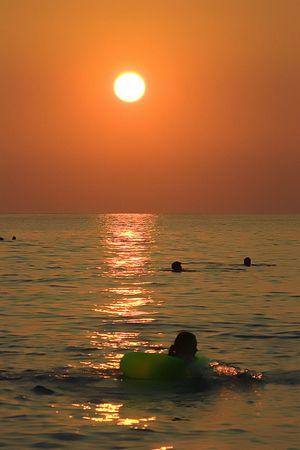 The sunset on Black Sea, Kavkaz, Russia