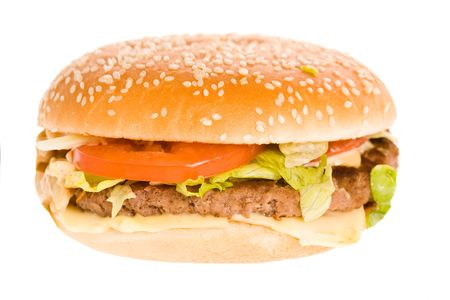 a closeup photo of a tasty sandwich on a white background Stock Photo - 5513562