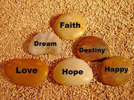 geloof hoop liefde: Eenvoud en spiritueel.