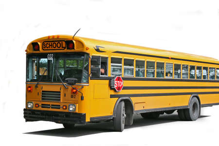 yellow schoolbus: Bus school