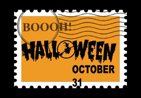 Halloween Stamp. photo
