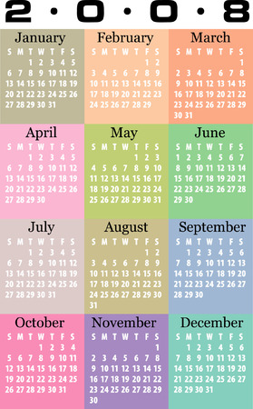scheduler: Calendar 2008 Vector.