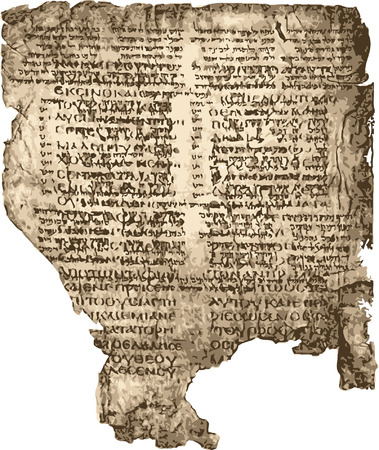 Old sheet  bible manuscript.