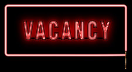 vacancy: Vacancy on black background.