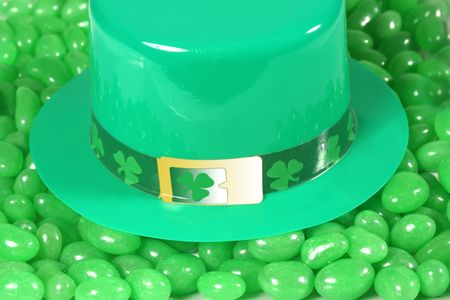 St Patrick hat on green jelly bean. Stock Photo - 2150743
