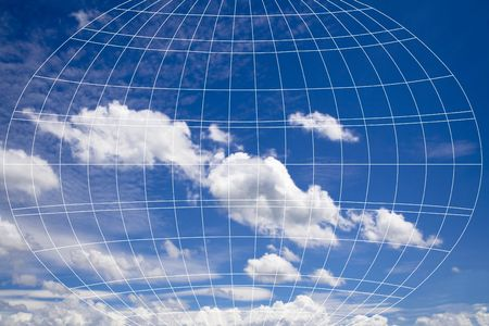 cirrus: Sky with differents clouds in afternoon and meridian abstract. Stock Photo