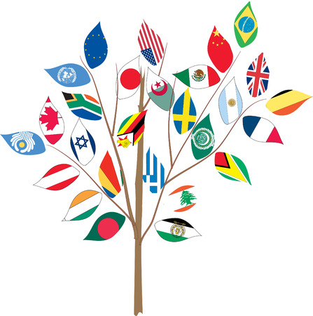 Tree with various flags on branch