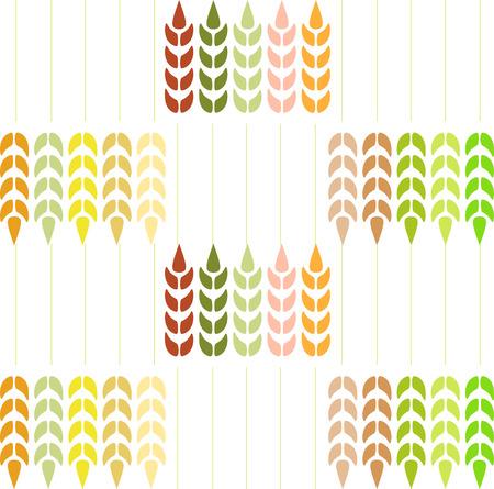Wheat Pattern on white background.
