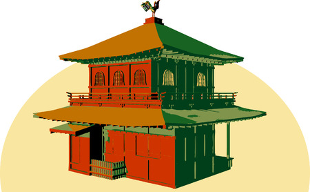 Asian structure. Vector