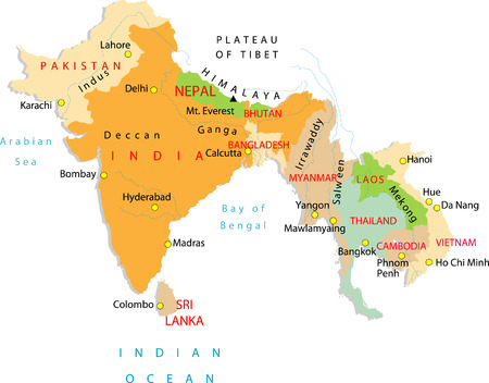 india city: A part of Asia.