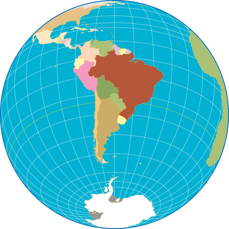 southamerica: South America globe Separate and use any country as you wish.