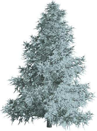 plats: Green fir silhouette.