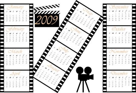 calendar: Calendar 2009 : Theme movie.