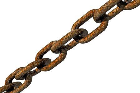diagonal: Rust chain in diagonal.
