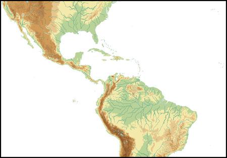 central: Reliëf van Midden-Amerika.