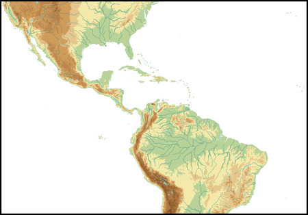 central america: Relief Of Central America.
