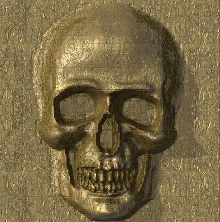 Metal skull. photo