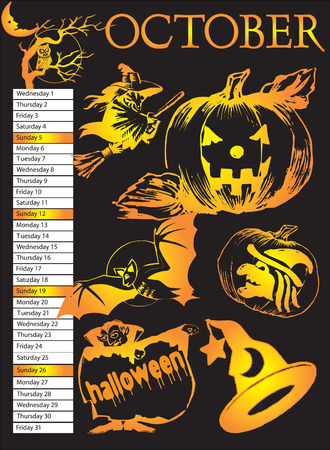 calendar: Halloween Calendar 2008.