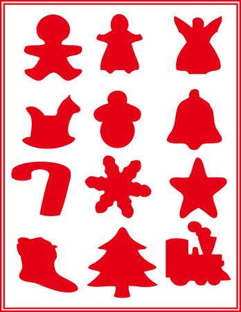 Christmas icons. Vector