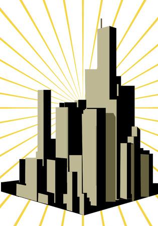 Shape city. Vector
