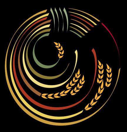 the spikes: Logo Harvest. Illustration