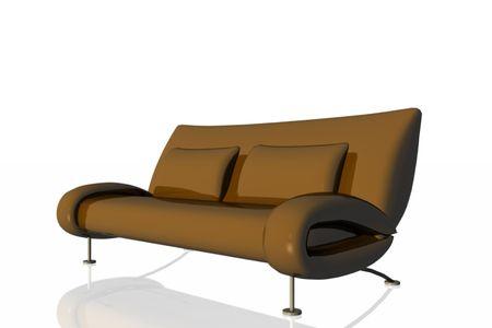 A brown sofa. Stock Photo - 3686844