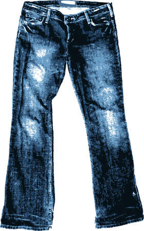 ふだん着: 昔のジーンズ。