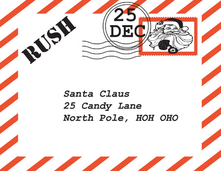 sender: Santa Claus letter.