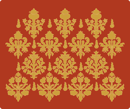Vintage renaissance wallpaper. Stock Vector - 3941439