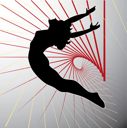 somersault: Acrobatic silhouette.