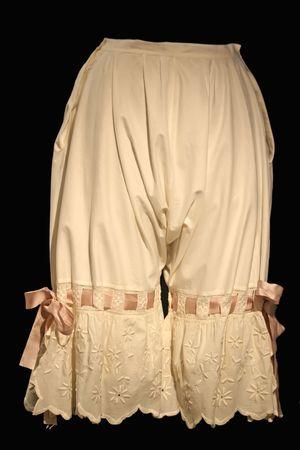 retro woman: Vintage underwear.