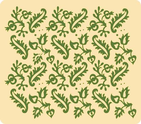 Vintage renaissance wallpaper. Stock Vector - 3995565
