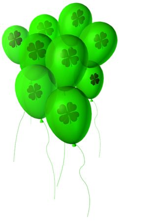 st patricks day: St Patricks day with balloons.