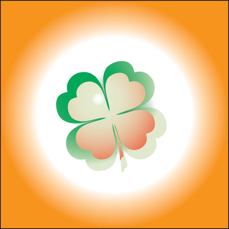 four objects: Ireland clover.