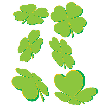 Six Clover shape. Vector