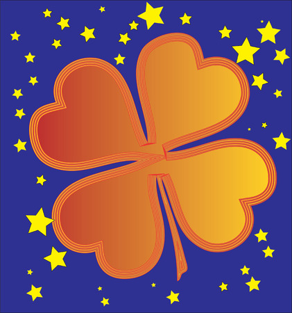 Clover shape. Vector