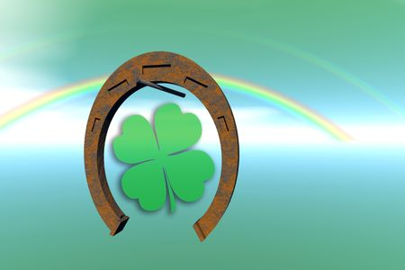 Happy and lucky St Patrick's day. Stock Photo - 4296547