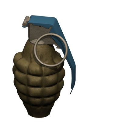 Isolated grenade Stock Photo - 4296549