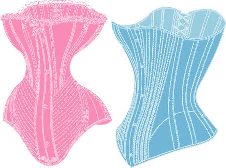 Retro underwear. Vector