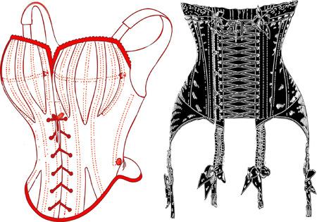 bodice: Retro underwear.